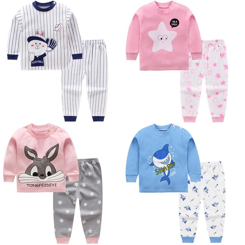 Neugeborenes Baby Mädchen Kleidung Baumwolle 100% Langarm Cartoon kleines Mädchen Muster Winter Outfits Baby Mädchen Kleidung Set