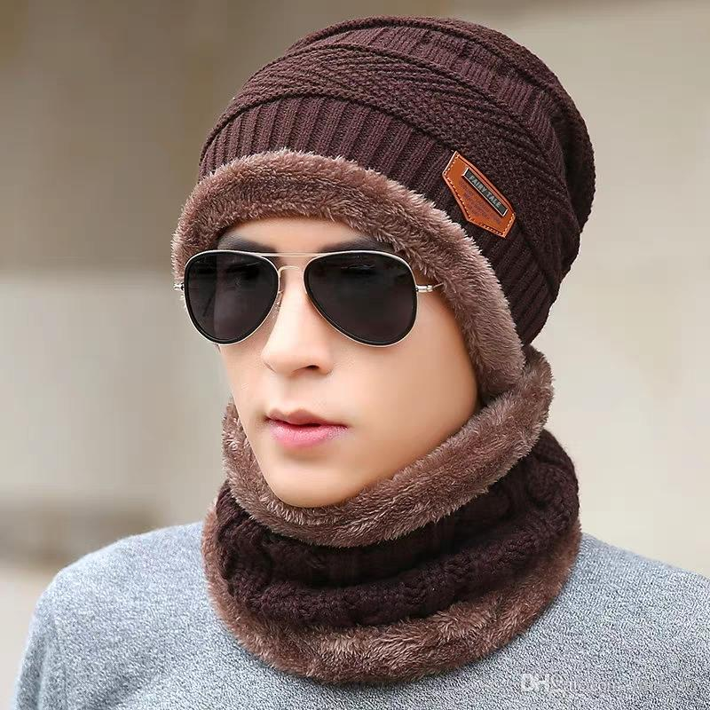 54a162f58ae 2019 Hat Men Winter Thickening Warm Wool Cotton Men Winter Korean Version Of  The Tide Youth Anti Cold Cycling Knitting Hat From Luckyhy
