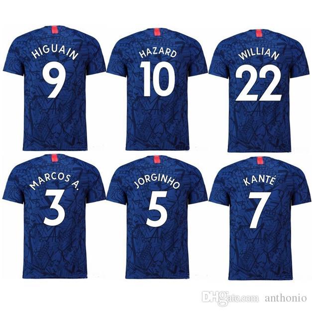 on sale d0d77 2cb32 2019/2020 EDEN HAZARD KANTE PULISIC WILLIAN GIROUD PEDRO football soccer  uniforms training Thailand Quality Soccer Jersey football kits