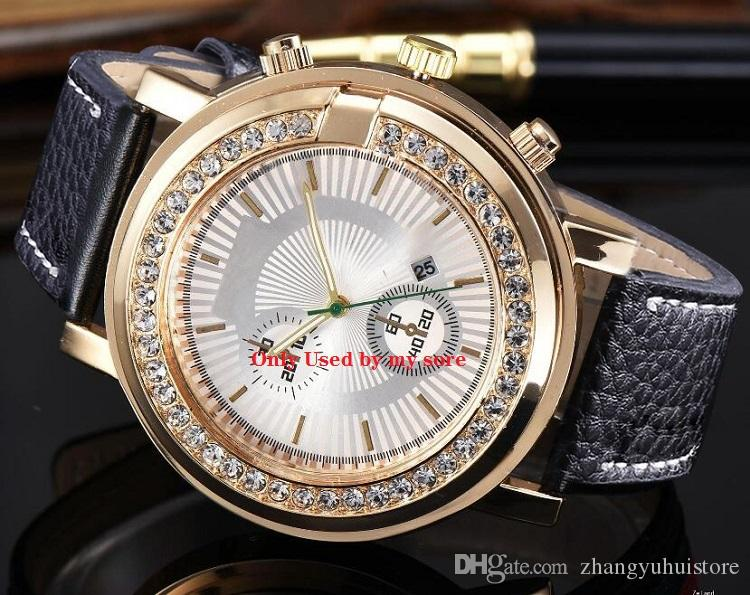 Luxury Gold President Iced Out Diamond Bezel Women Mens Automatic Watch Day Date Wristwatches
