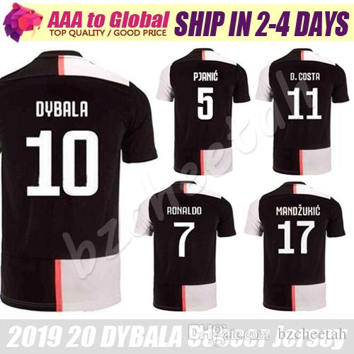 hot sale online 34576 55c46 DYBALA jersey 19 20 Maglietta da calcio League RONALDO BONUCCI CUADRADO  MANDZUKIC SOCCER JERSEY Mens Football Sweatshirt t shirt