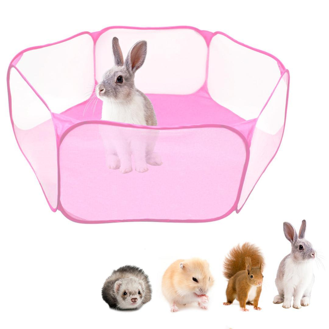TINGHAO Pet Playpen Portable Open Indoor/Outdoor Small Animal Cage Tent Fence For Hamster Chinchillas And Guinea-Pigs
