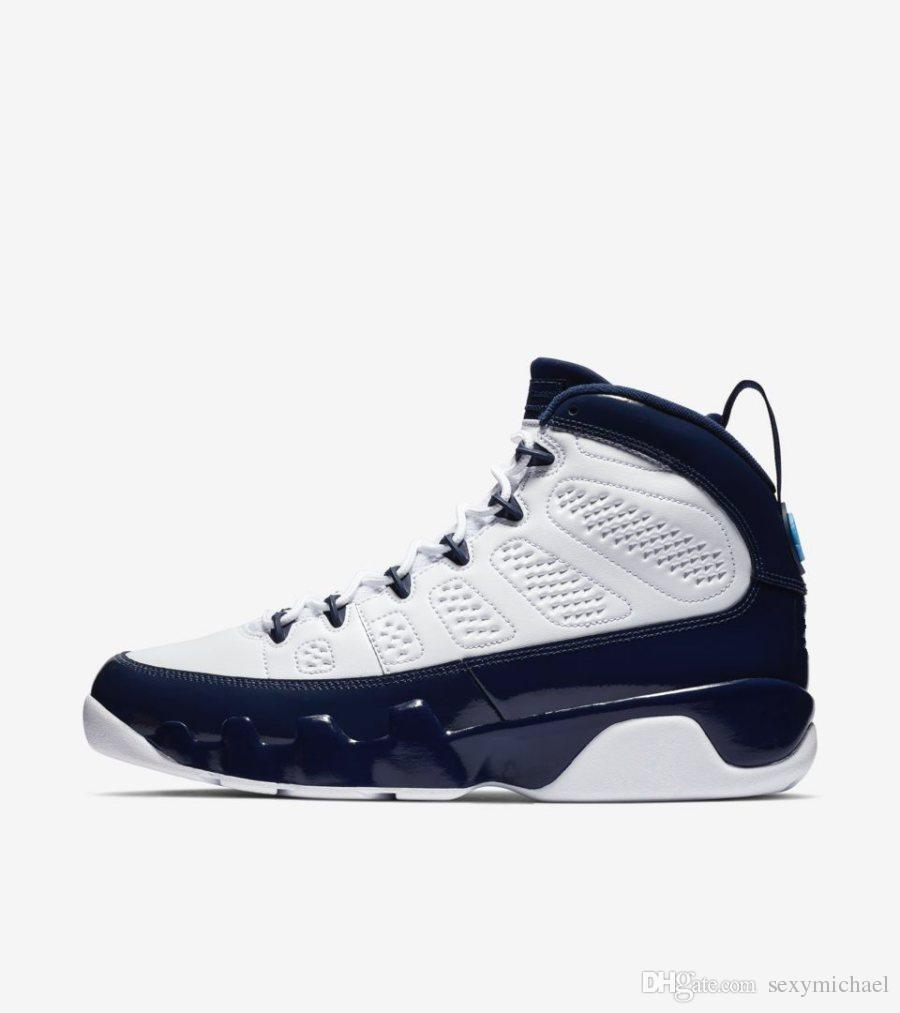 fbb413cdb891 unc 9 navy blue white 2019 new 9s High Top mens basketball shoes sneakers  for men women with box