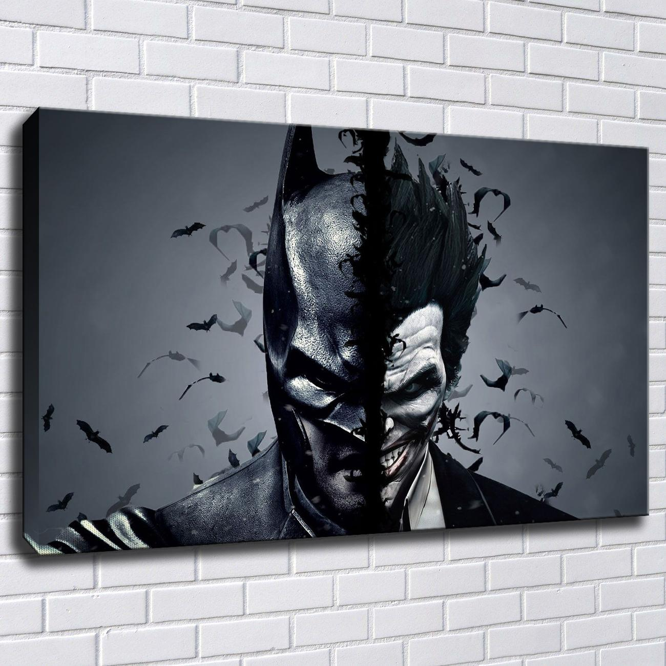 Batman And Joker Canvas Painting Print Pictures For Living Room Home Decor Abstract Wall Art Oil Painting Poster