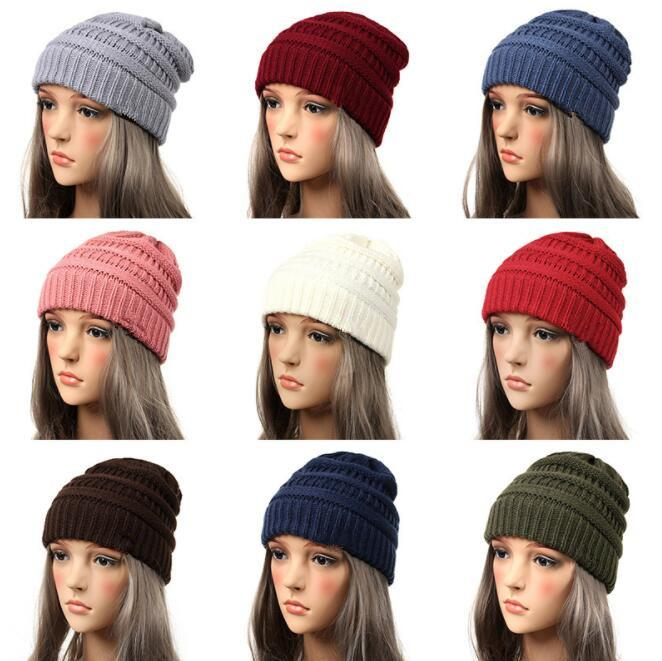 fed12c2f94688 Women Beanie Cap Hat Skully Trendy Warm Chunky Soft Stretch Cable Knit  Slouchy Beanie Winter Hats Ski Cap KKA6309 Elastic For Party Hats Elmo  Birthday Party ...