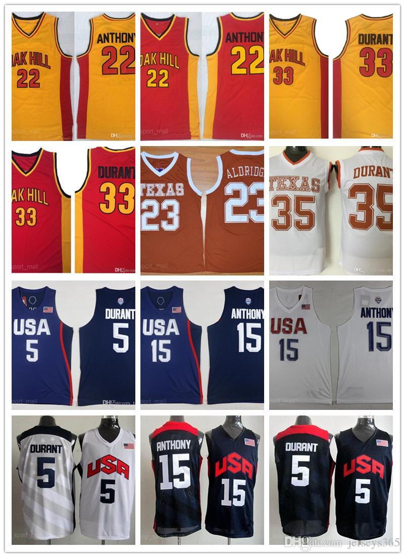 fffb6965 ... greece 2019 texas longhorns team us college basketball jersey 35 kevin  durant lamarcus aldridge oak hill