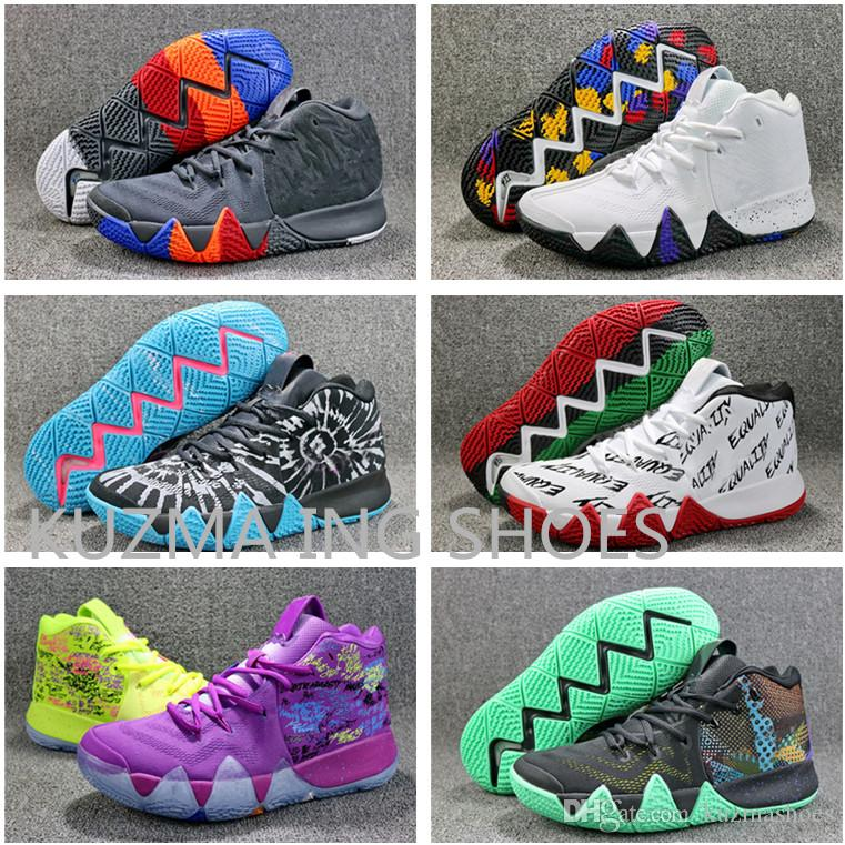 e01dd822bff 2018 Fall Irving 4 Basketball Shoes Anthracite Kyrie Sneakers Sports Mens  Shoe Wolf Grey Team Equality Tie Dye All Star BasketBall Shoes Sneakers  Shoes ...