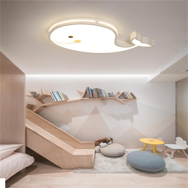 Acheter Creative Moderne Baleine Led Plafonnier Pour Chambre Enfants Bébé  Garçon Fille Enfant Plafond Lumière Télécommande Lampe Luminaire De $230.62  Du ...