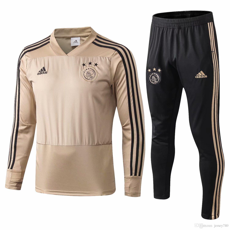 9639bd0663d3 2019 TOP QUALITY 2018 2019 Ajax Football Tracksuit 18 19Netherland League  Ajax Maillot De Foot KLAASSEN MILIK VAN BASTEN SOCCER Training Suit From  Pixiu88, ...
