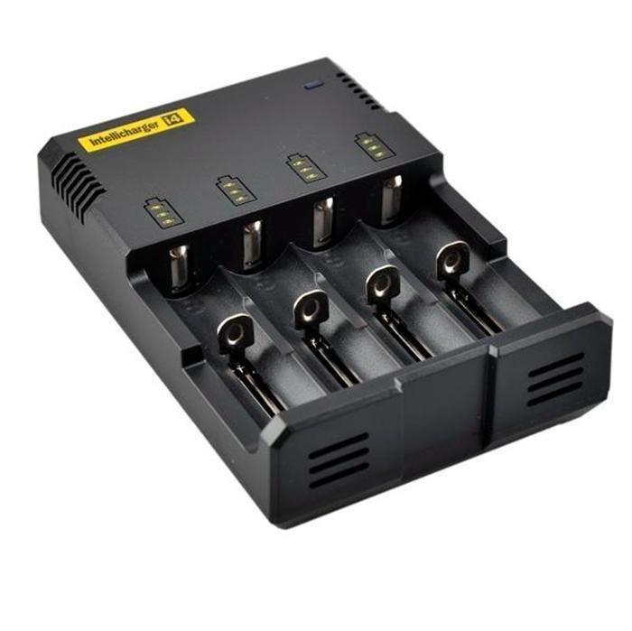 원래 Nitecore I4 유니버셜 충전기 전자 cigs 전자 담배 충전기 18650 18500 26650 I2 D2 D4