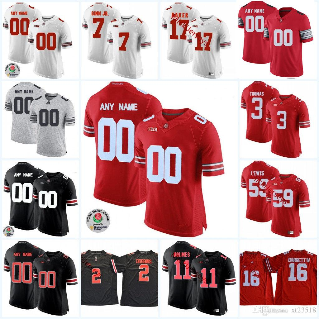 the best attitude df1ae 0eac7 Custom Ohio State Buckeyes Football Jersey Jerome Baker Jamarco Jones  Tyquan Lewis Malik Barrow Billy Price Damon Webb Michael Hill Jersey