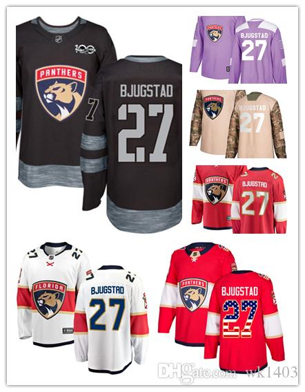 new style a6e41 ab007 Florida Panthers jerseys #27 Nick Bjugstad Jersey hockey men women youth  red white black green home Breakaway Stiched authentic Jerseys