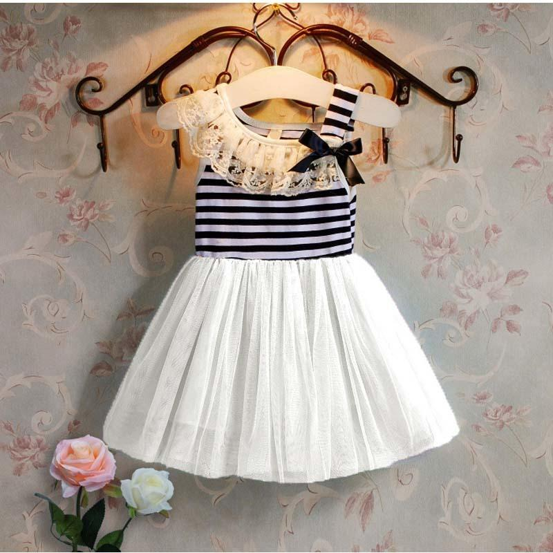 0ccb95504a99 2019 Good Quality Baby Girls Summer Dresses Kids Fashion Striped ...