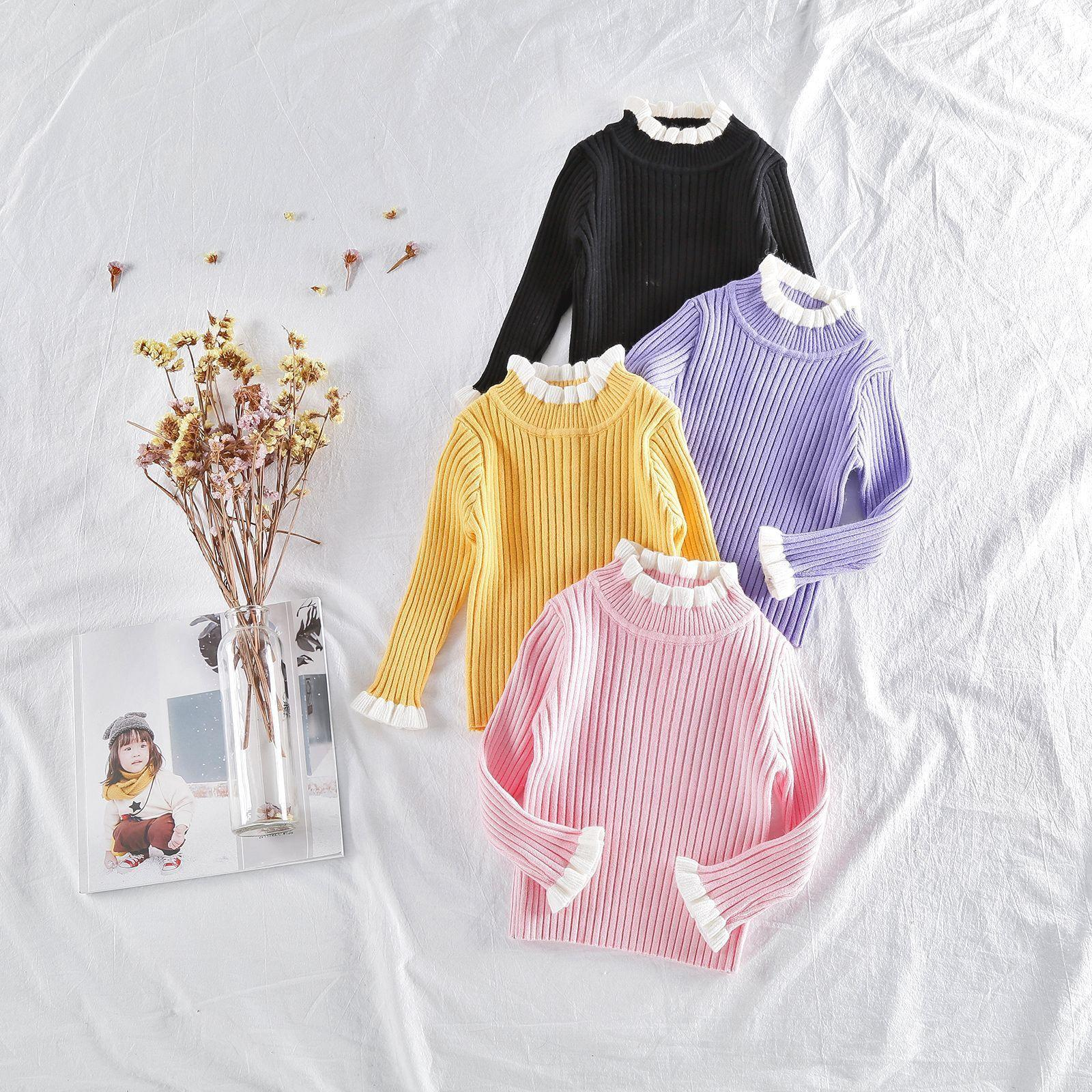 1dd0cb1ba Girls Sweaters 2019 Baby Girl Sweater Jumper Autumn Winter Knitted ...