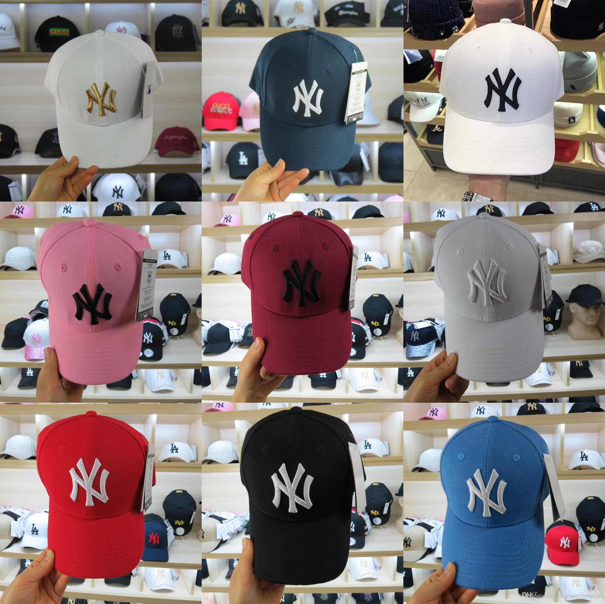 96c7a4ccf8a68 2019 New York Wholesale High Quality NY Yankees Fade Baseball Caps ...