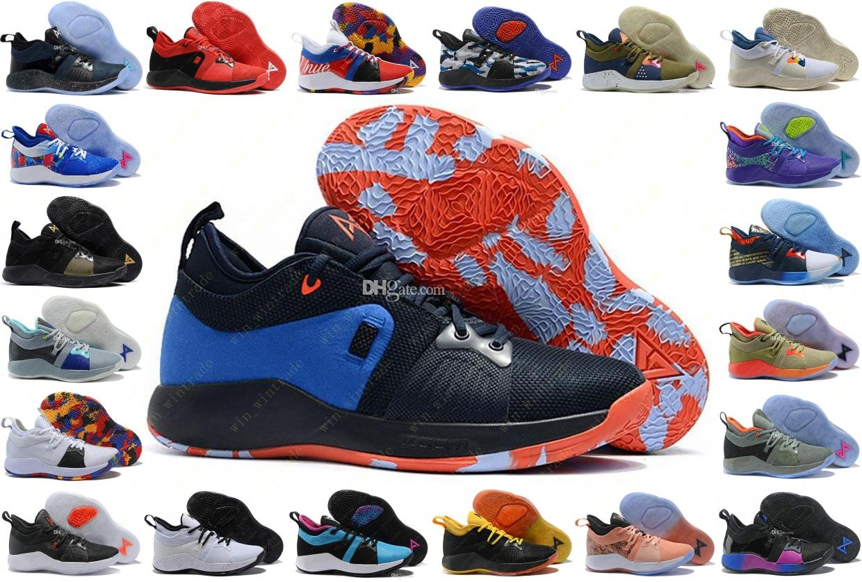 107c58803450 Mens 2019 All Star OKC PS March Madness The Road Master Lights UP PG 2  PlayStation Taurus Paul George II Basketball Shoes PG2 2s 40 46 Shaq Shoes  Kd ...