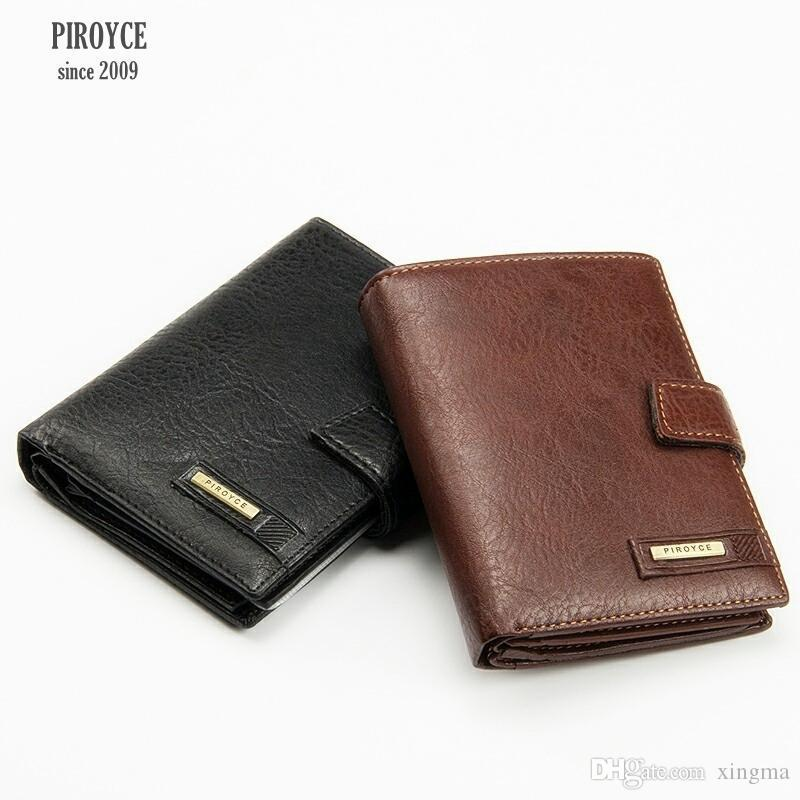 Wholesale- 2 in 1 Men Piroyce 100% Genuine Leather Wallet Russia driver license case passport cover Money Pocket Large Capacity Coins Purse