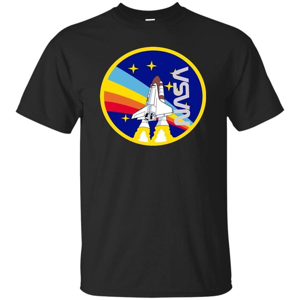 4598289f Nasa Unisex T Shirt NASA Shuttle Launch With Rainbow Graphic Cool Vintage S  3XL Shop For T Shirts Online T Shirt With A T Shirt On It From  Joyfulandhappy57, ...