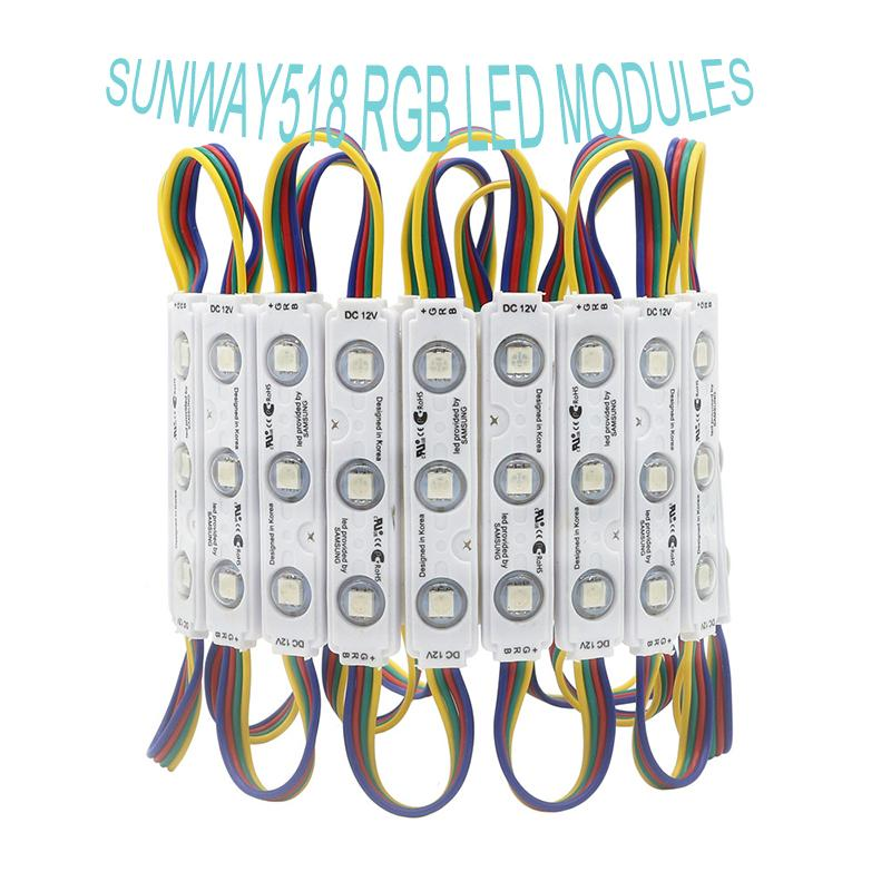 IP68 SAMSUNG RGB LED Module Lights Injection Led Modules with Lens Led Sign Backlights for Channel Letters Advertising Light Shop Banner