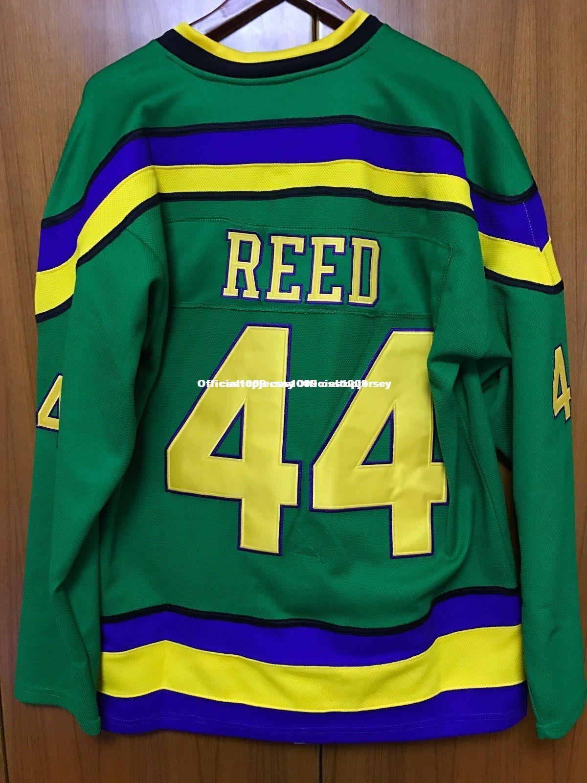 2019 Cheap Custom Mighty Ducks Movie Jersey  44 Fulton Reed Hockey Jersey  Stitched Green Customize Any Number Name MEN WOMEN YOUTH GOALIE CUT 5XL  From ... d67f7690b