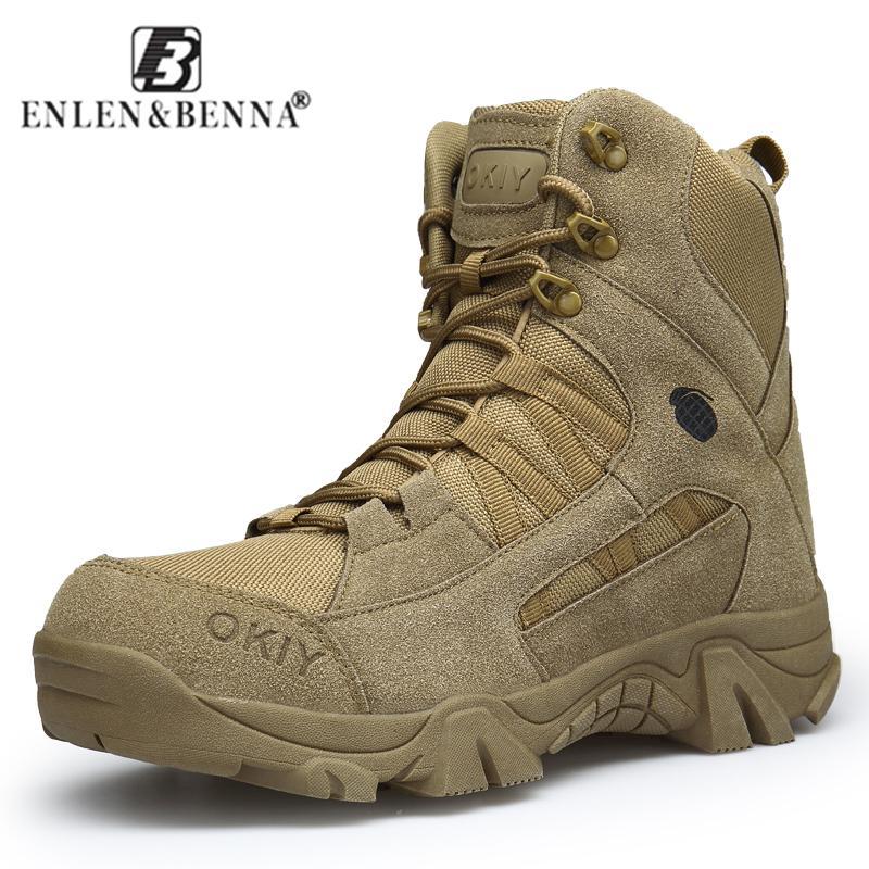d0d5e1d3a9b Compre 2018 Moda De Invierno Botas Militares De Los Hombres Cómodos Botas  De Tobillo Hombres Zapatos De Trabajo Ejército Desierto Botas De Combate  Hombres ...