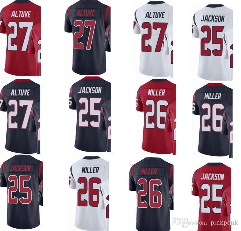 size 40 20e32 23bb6 custom Houston #men/youth/women#25 Kareem Jackson 26 Lamar Miller 27 Jose  Altuve Texans elite jersey # Hockey Jackets