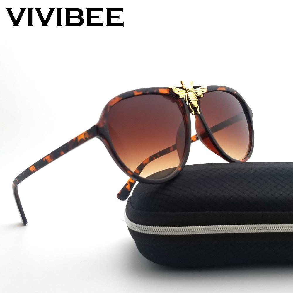 fb263ba34 Unisex Big Bee Aviator Sunglasses Ladies Unique Brand Designer Aviation Sun  Glasses Vintage Style 2019 Shades For Women Sunglasses Online Sunglasses  Brands ...