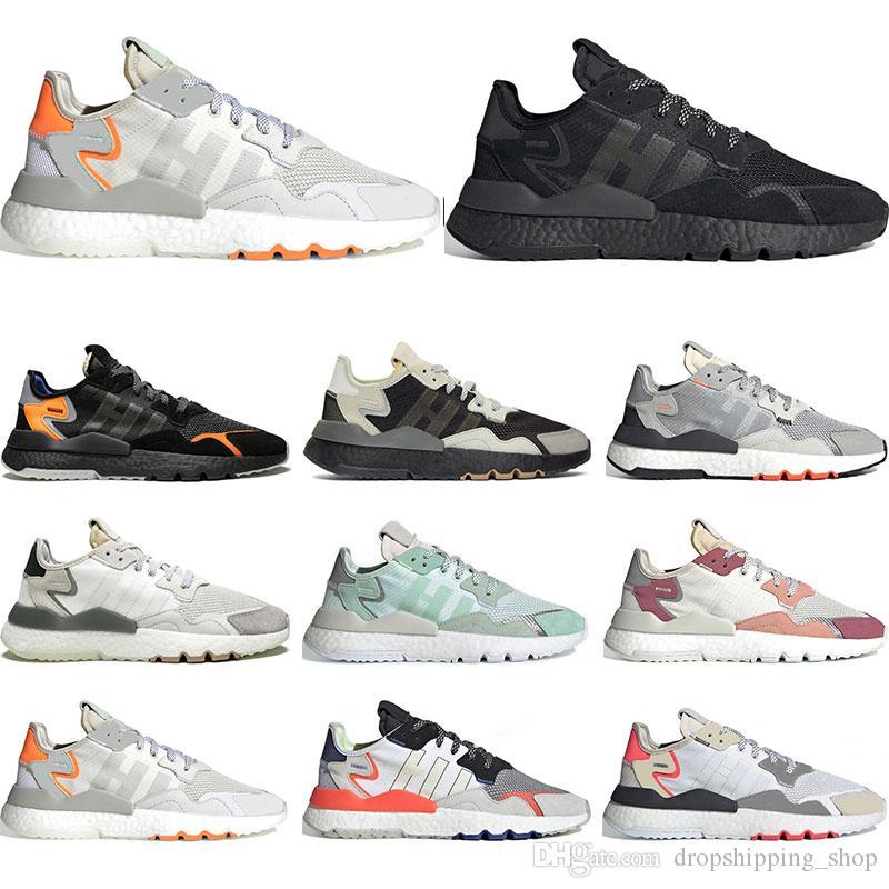 adidas 2019 Hot nite jogger EQT 3M scarpe da ginnastica riflettenti per uomo donna triple nero bianco scarpe da ginnastica traspiranti sportivi taglia