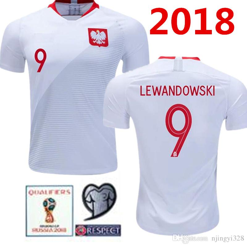 lowest price 1d8c5 d952d 2018 POLAND short soccer jerseys Home Away lewandowski Glik krychowiak  KRYCHOWIAK 2019 Poland home away football jersey shirts
