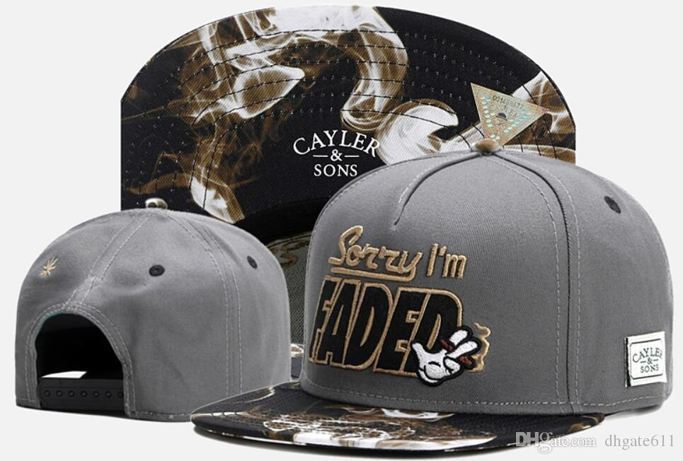 29c8ef91373 Cayler   Sons Snapback Cap Baseball Hat Sorry I Am Faded Smoke Cayler Sons  Luxury Brand Fashion Sports Casquette Gorras Hat For Men Women Baseball  Caps For ...
