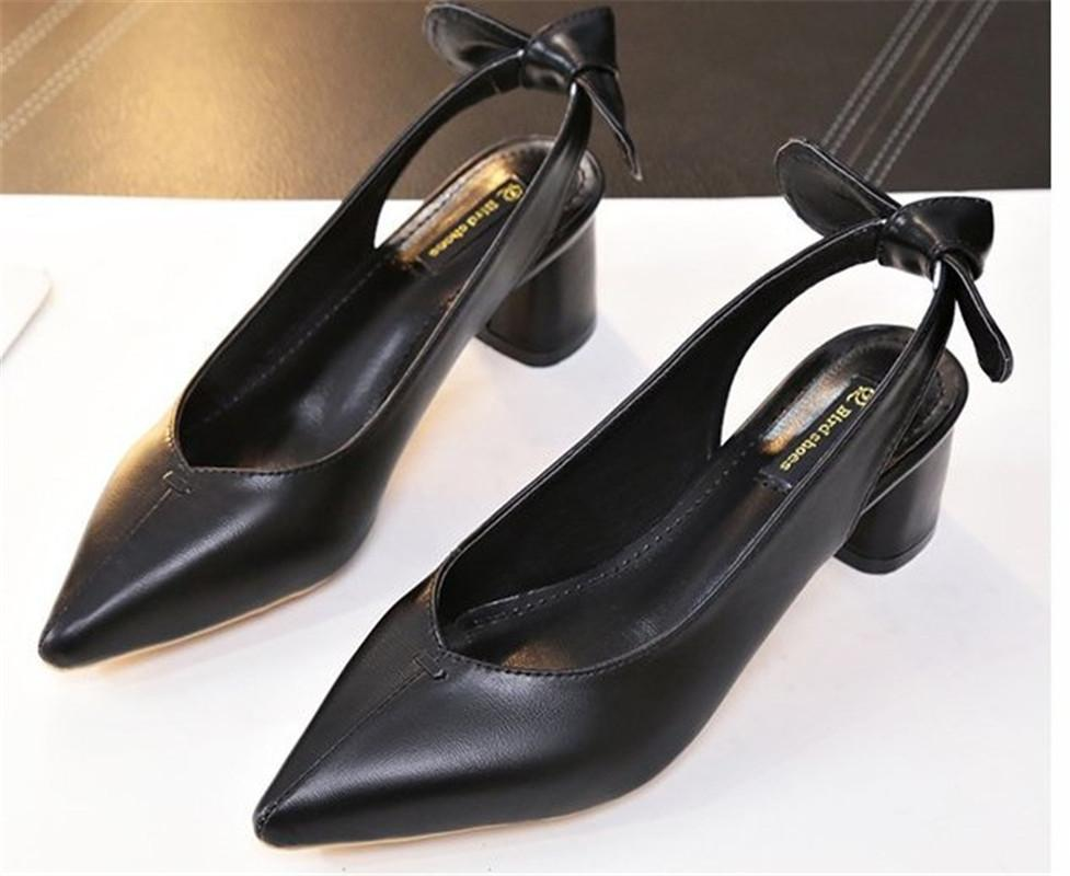 Designer Dress Shoes 019 Hot Yellow Patent Leather Women Pumps High Heels  Fashion Wedding Ladies Chunky Heel Summer Pumps With Knot 35 39 Green Shoes  Boots ... d394c089ea2a