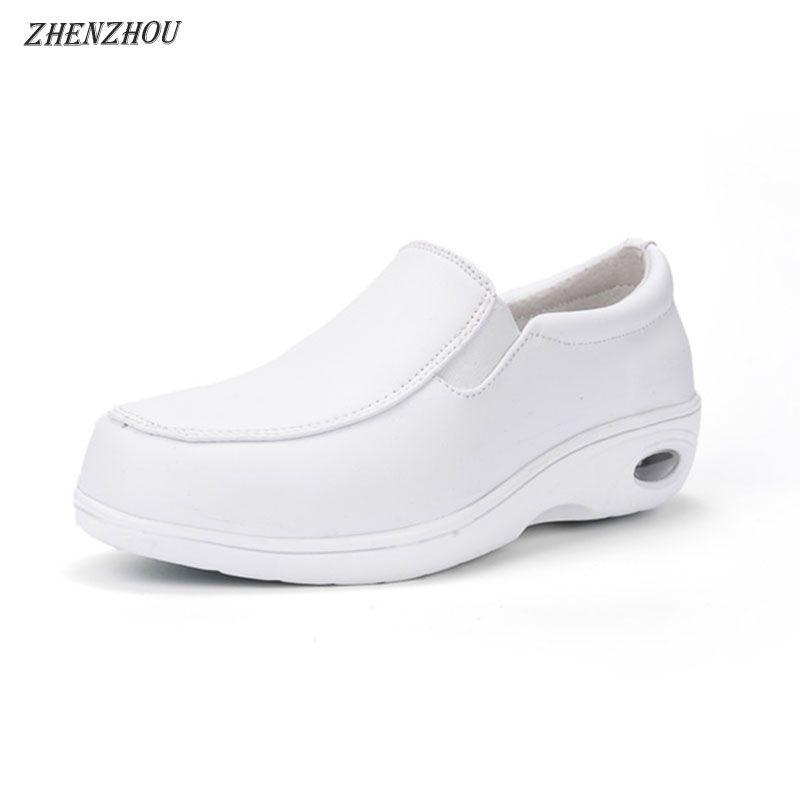 5b06d6704a62e9 Acheter Designer Chaussures Habillées ZHENZHOU Automne Coussin D'air Infirmière  Talon Blanc Antidérapant Loisirs Femme Mère Petite Esthéticienne Blanche De  ...