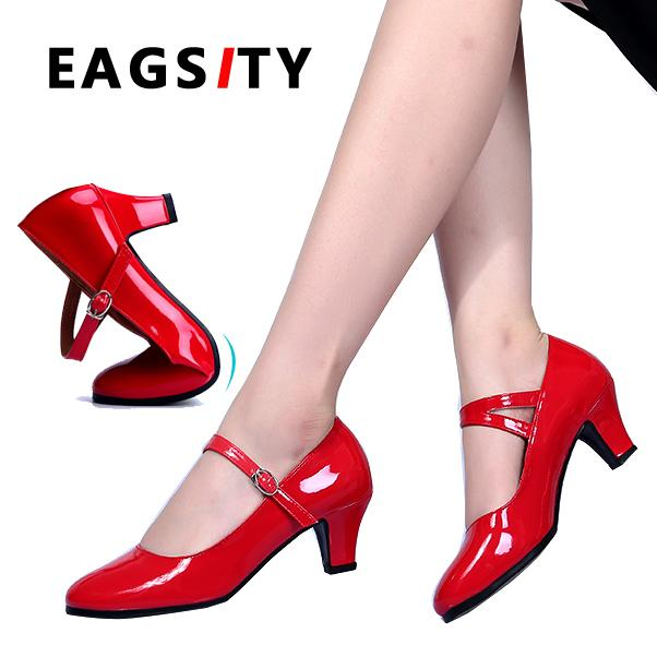 94c7343f5cf Pumps Mary Jane Shoes For Women Kitten Heel Ankle Strap Buckle Pointed Toe  Ladies Shoes For Dancing Work Outdoor Party Wedding Strappy Heels Geox Shoes  From ...