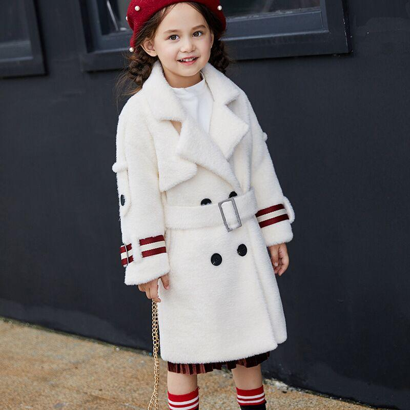 c58b3f88724d Toddler Girl Winter Coat Cotton Padded Mink Wool Parka Winter Jacket ...