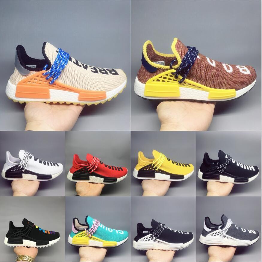 88c4ff3131133 2019 Human Race NMD Casual Shoes Pharrell Williams Hu Trail Oreo Nobel Ink  Black Nerd Designer Sneakers Men Women Sport Shoes 36 47 Pink Shoes Vegan  Shoes ...