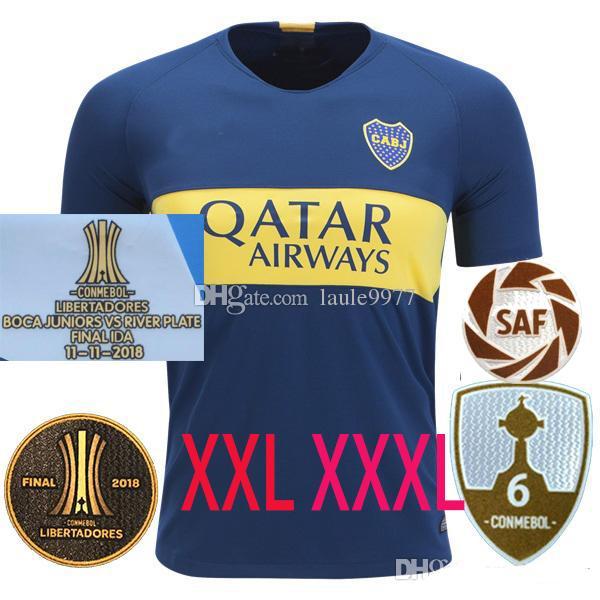 XXL XXXL 2018 2019 20 Boca Juniors Casa Camisolas de Futebol 18 19 GAGO  OSVALDO PEREZ Benedetto TEVEZ CAS Camisola de Futebol camisas