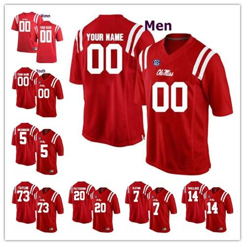 new styles 4747c 06e84 Custom Ole Miss Rebels College Football jersey Mens Women Youth  Personalized Stitched Any Name Number stitched Jerseys