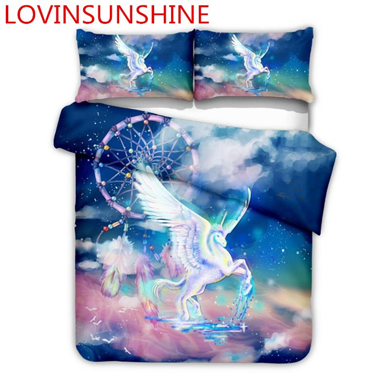 78aefc74cd 3D Printed Colorful Animal Unicorn Comforter Bedding Sets Single ...