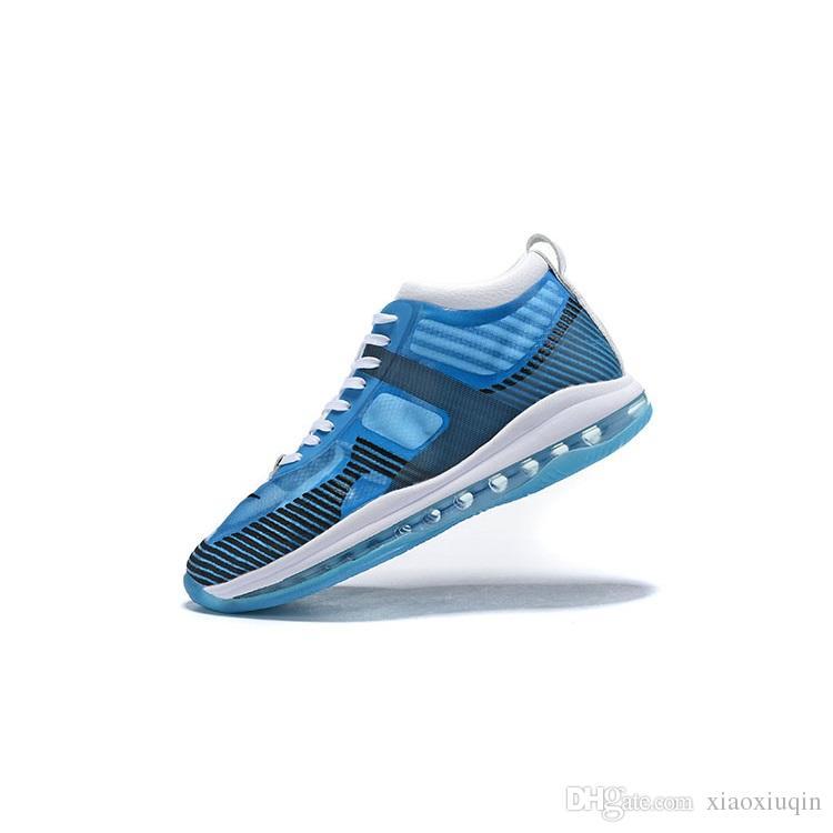 6d67f8d84d5ef 2019 Mens John Elliott Lebrons Icon Shoes For Sale Blue Pure White ...