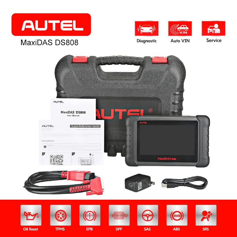 AUTEL MAXIDAS DS808 OBD2 Scanner Diagnostic Tool Automotive ECU Coding Tester EOBD Key Programmer Car Accessories Code Reader