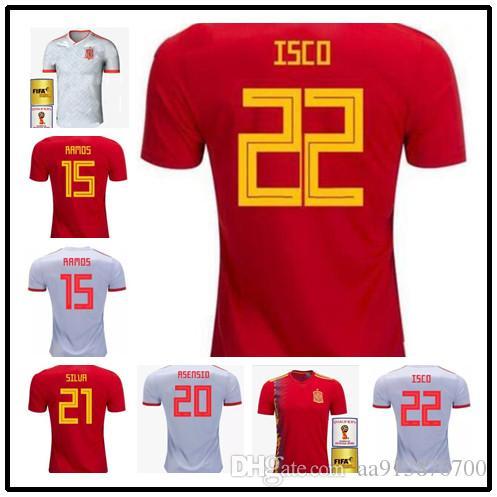 iniesta Camisetas De 2018 Costa A Rojas Asensio Mundial Inicio Pique Visitante Fútbol España 2019 Isco Selección Diego Nacional Copa f7g6yb