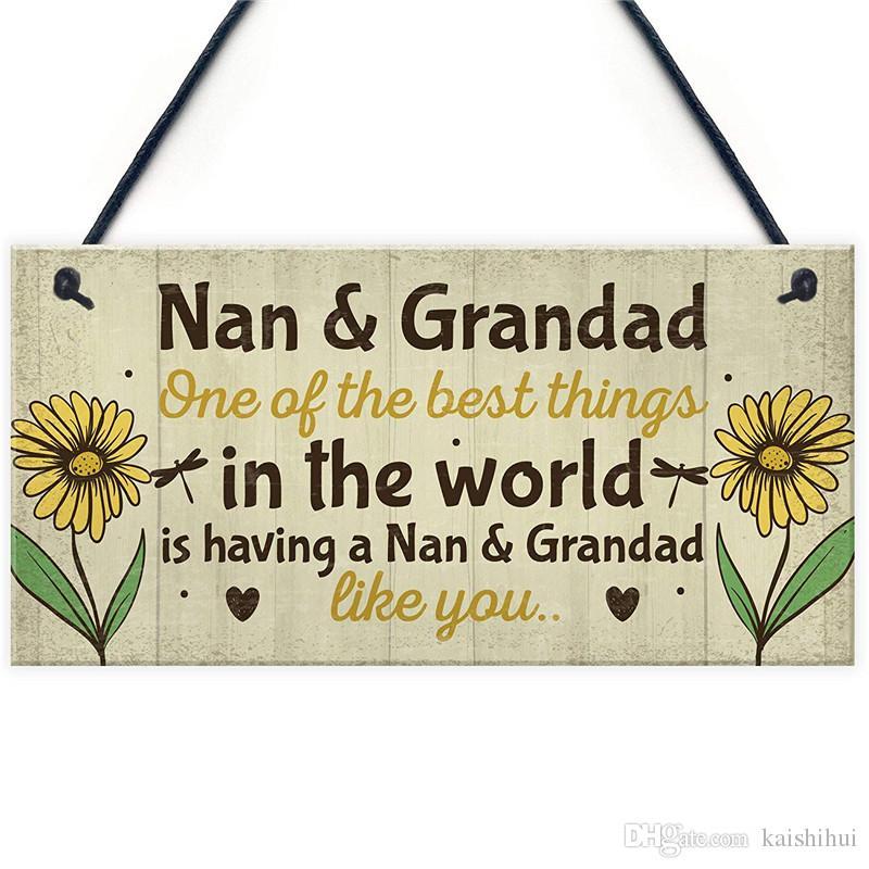 Grosshandel Nan And Grandad Christmas Birthday Gifts Hangende Plakette Grosselterngeschenke Vorhanden DANKE Von Kaishihui 1528 Auf DeDhgateCom