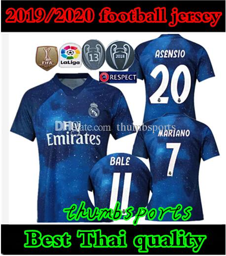 new style 7566a d75aa 2019/2020 Real madrid EA Sports soccer jerseys ASENSIO MODRIC soccer jersey  football shirt RAMOS Camiseta 19 20 real madrid third red maillo