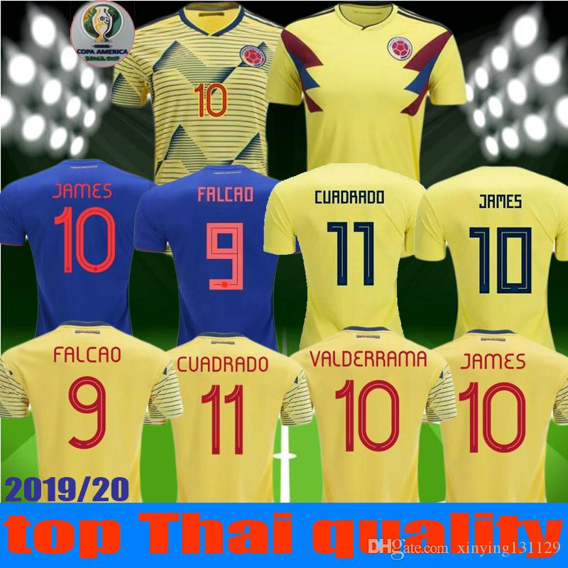 630f4340236 2019 NEW 2018 2019 Copa America Colombia Jersey 2020 Colombia Home Soccer  Jerseys 19 20 Away FALCAO JAMES CUADRADO TEO BACCA Football Shirt From ...