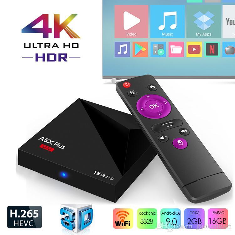 A5X Plus mini Smart TV BOX Android9 0 2GB 16GB RK3328 Rockchip 2 4G WIFI 4K  HD PK TX3 X96 MINI Media Player