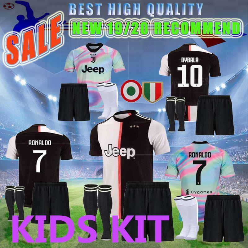 100% authentic 5d785 6f29c NEW 2019 2020 Italy juve Champions League kids kit RONALDO JUVENTUS Soccer  Jersey 19 20 DYBALA MARCHISIO MANDZUKIC D.COSTA Football Shirt