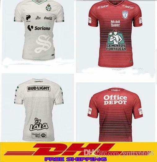 c506cbaa0a9 DHL 2018 2019 Club LIGA MX PachucaCF Santos Laguna Soccer Jerseys 18 ...