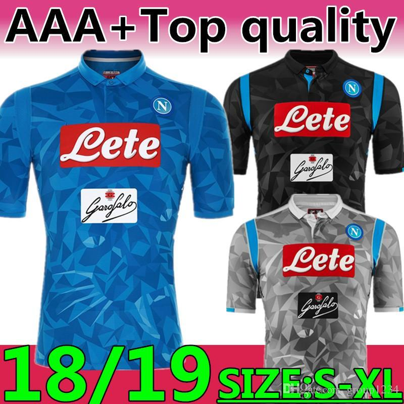 huge discount 50721 2d2e1 Top Quality 18 19 NEW Season Napoli #7 CALLEJON Home Soccer Jerseys 2019  #14 Mertens #99 Milik Third Kit Camouflage Football Uniforms