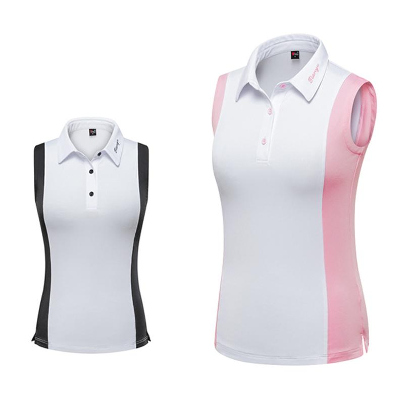 Summer Womens T-Shirt Sleeveless 2019 Golf Clothing Polo Shirt Slim Comfortable Simple Vest Outdoor Sports Clothes