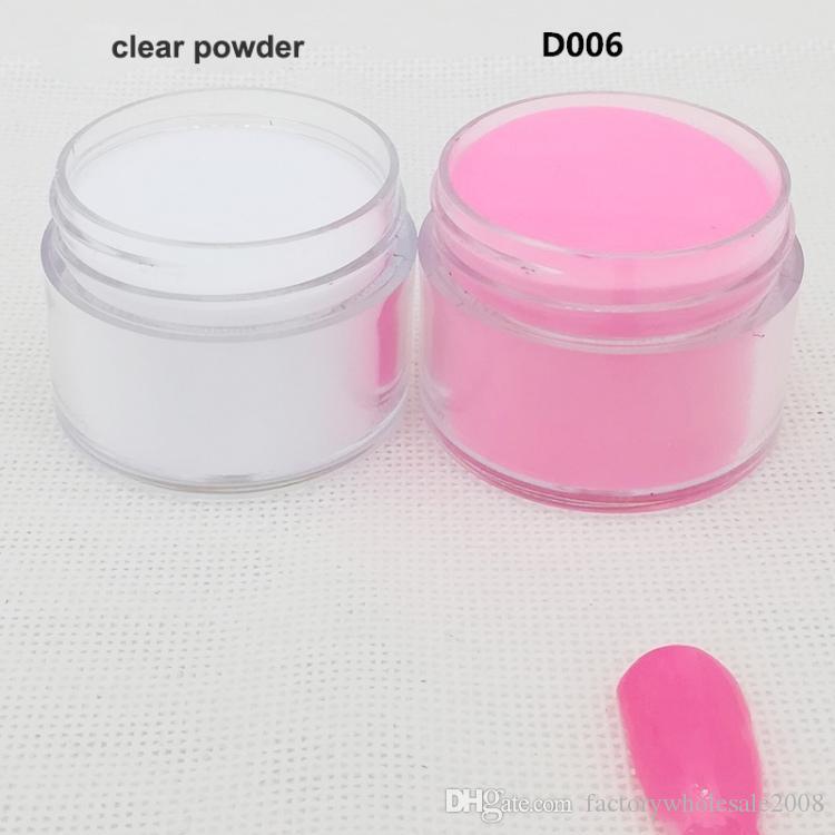 Oumisaya dip powder nails 2pcs/set, non-yellowing for a long time 1oz/jar  nail dip powder clear powder